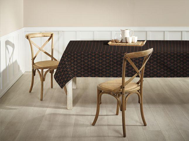 Mistral Home Tafellaken Flex Copper zwart/goud 150 x 270 cm.  #Tafellaken #Keuken #Collishop