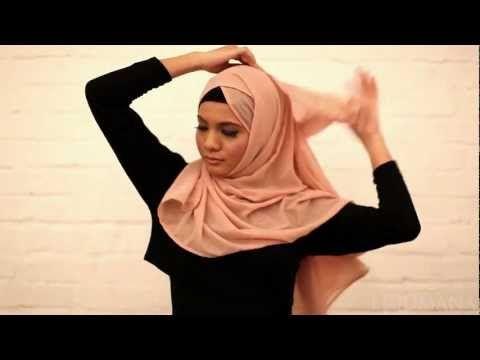 Criss cross hijab tutorial