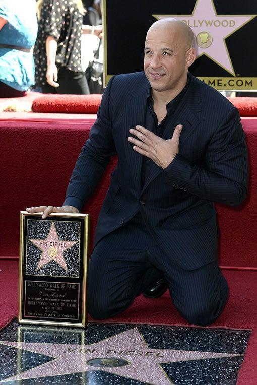 Vin Diesel receives star on Hollywood Walk of Fame