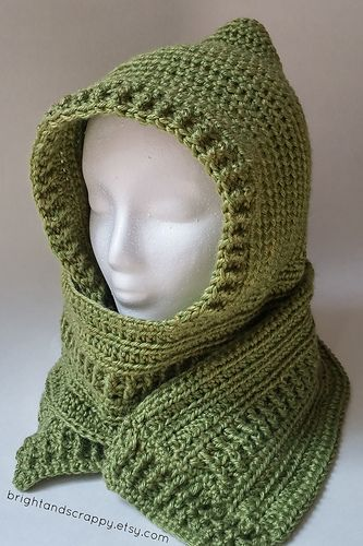 17 best ideas about crochet hooded scarf on