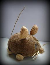 kokosová myška se schovávačkou