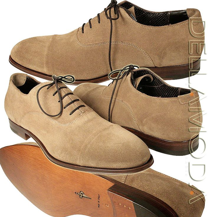 Italian Men Shoes | Cesare Paciotti Shoes Beige Suede Oxfords Italian shoes for men CPM684