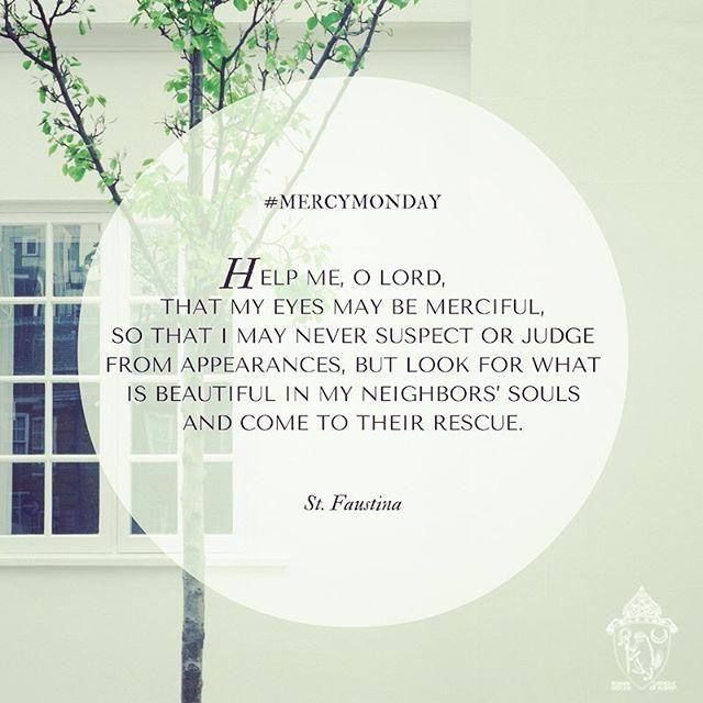 #mercy #mercymonday #yearofmercy #stfaustina #divinemercy @jubileeofmercy www.rcda.org/yearofmercy