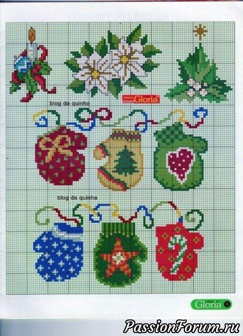 Новогодняя вышивка. - запись пользователя Антонида в сообществе Вышивка в категории Схемы вышивки крестом, вышивка крестиком