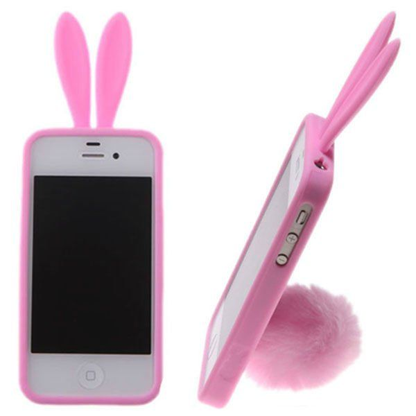 ¡Ponle orejas y cola a tu iPhone con estas curiosas fundas con forma de conejo! / Add ears and tail to your iPhone with these curious covers rabbit-shaped!