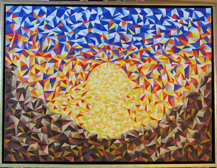 """Titel """"Horisont"""" 80x60 cm. Acrylic Colors"""