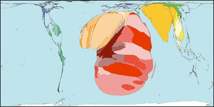 Dødsfall av AIDS - verdenskart.