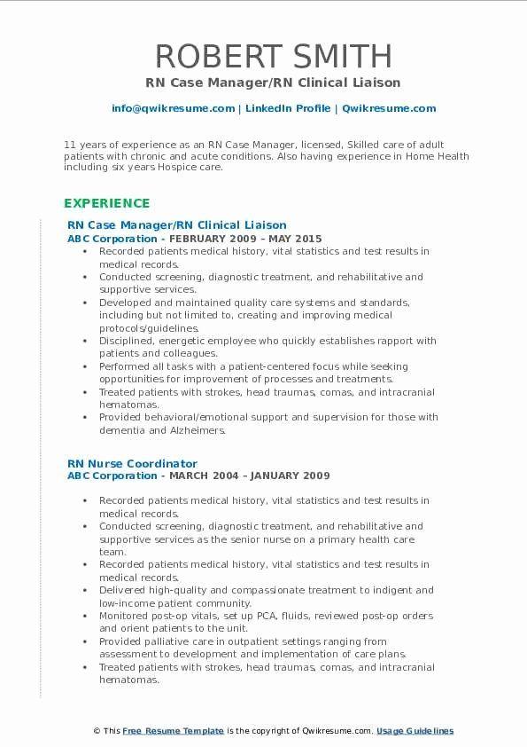 Case Manager Job Description Resume Beautiful Rn Case Manager Resume Samples In 2020 Resume Examples Job Resume Samples Sales Job Description