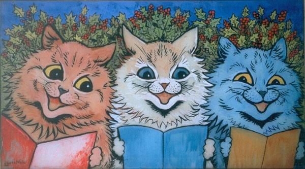"Louis Wain ""Carol Singing Cats"""