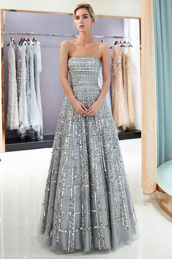 9fad8795 40+ Long Sequin Evening Gowns Ideas | gaun pesta | Prom dresses ...
