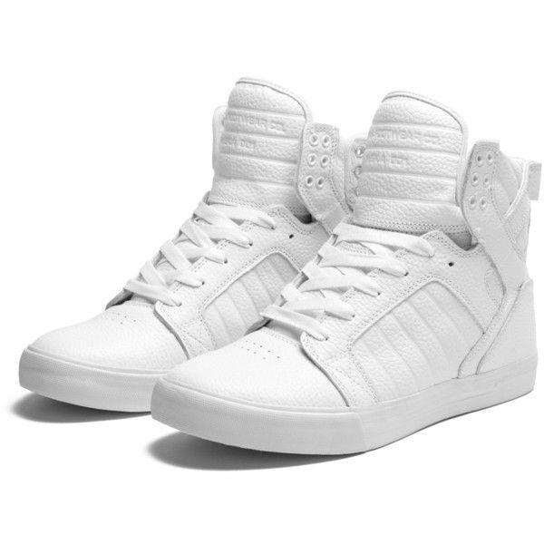 Zapatillas supra blancas - Skytop ($120) ❤ liked on Polyvore featuring shoes, sneakers, supra, zapatillas, sapatos, supra sneakers, supra footwear and supra shoes