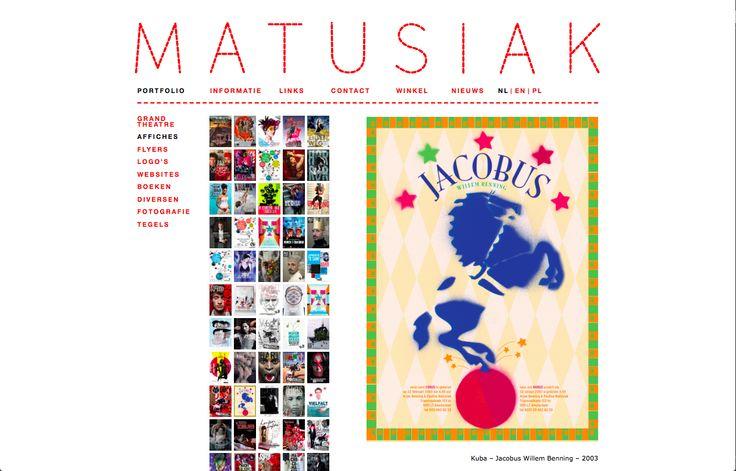 Paulina Matusiak  Amsterdam  behandel alles als een klein kunstwerk  werk vooral voor theater, dans, muziek, opera en uitgeverijen  het is belangrijk dat een opdrachtgever iets durft, dat je over grenzen heen durft te gaan  art direction, grafisch en interactief design, fotografie en illustratie als kernactiviteiten