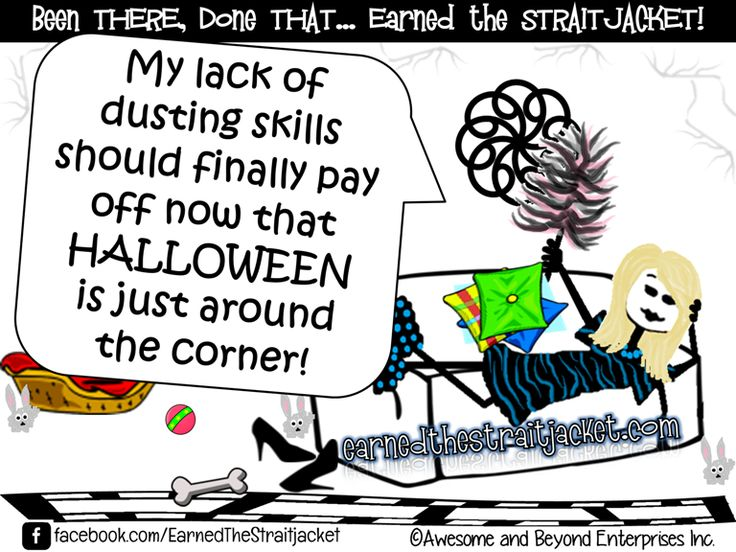 My lack of dusting skills should finally pay off now that HALLOWEENis just around the corner! The following two tabs change content below.BioLatest Posts Tanya Masse-GuenterLearn more at Tanya's Author Bio Mother, wife, awesomepreneur, author, blogger, cartoonist, cancer caregiver, awesomist, supastar... not always in that order. Please visit her Author Bio page for more! [...]