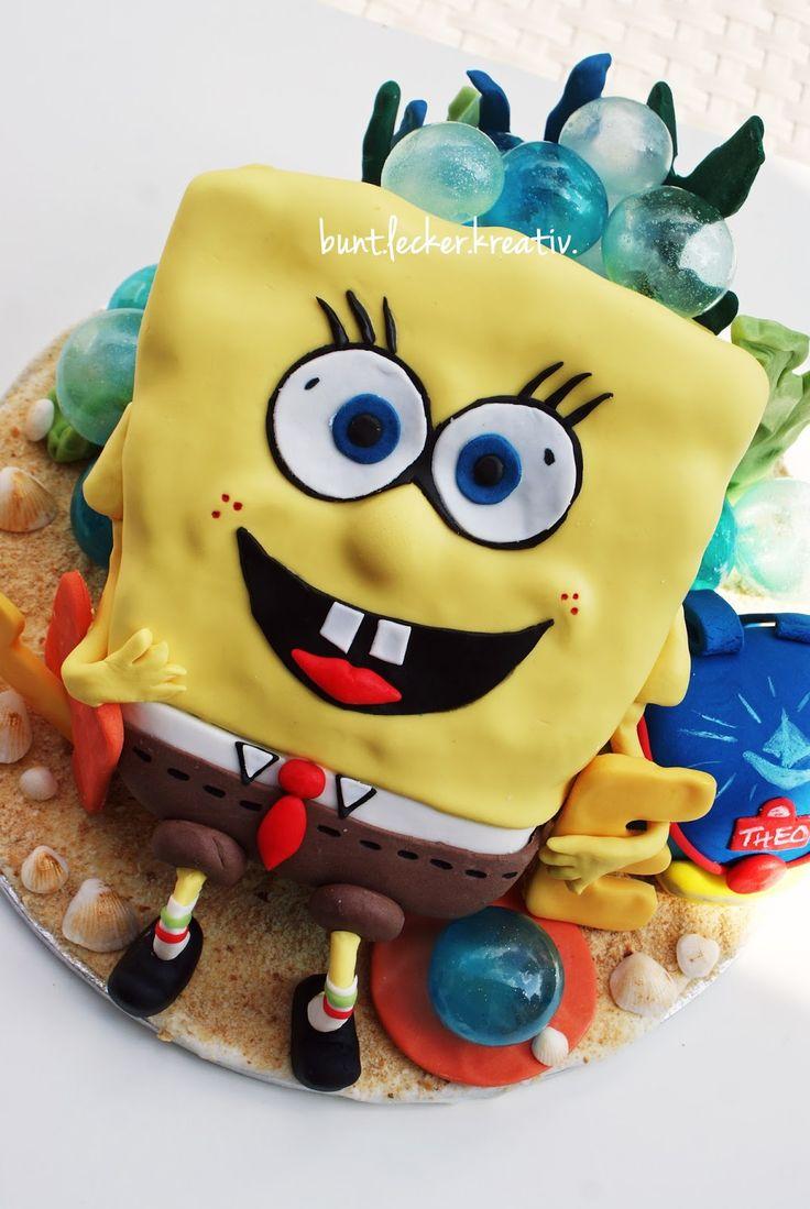 Spongebob na torte