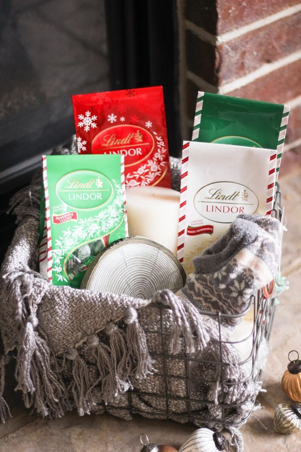 The Merry List: cozy up with a Snow Day Essentials Kit complete with the Lindt Mint Collection of LINDOR truffles and lush accessories. Click for more ideas on the Lindt Unwrapped blog and the chance to win a Snow Day Essentials Kit of your own! [Promotional Pin]