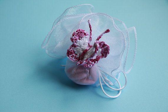 Bomboniera Farfalla Uncinetto Crochet Butterfly di MagiadelleMamme