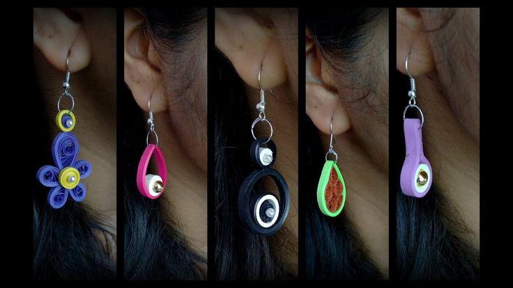 DIY Quilling Earring Designs/ Simple paper quilling Earrings.
