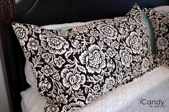 icandy handmade: (tutorial) King-sized Pillow Shams and Bed Makeover