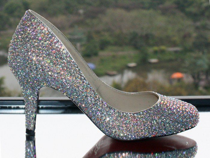 2013 Silver Glitter high heels Platforms Shining Diamante Stiletto Women Prom Party Bridal Weddding Shoes Cheap on AliExpress.com. 5% off $75.05