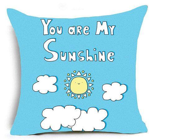 you are my sunshine cushion cover. nursery decor ideas.