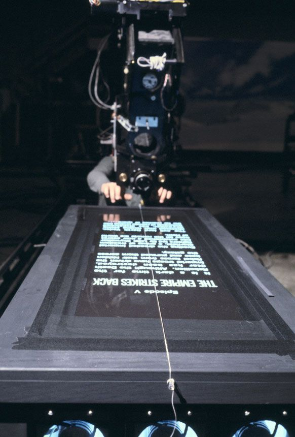 The Empire Strikes Back, filming the crawl