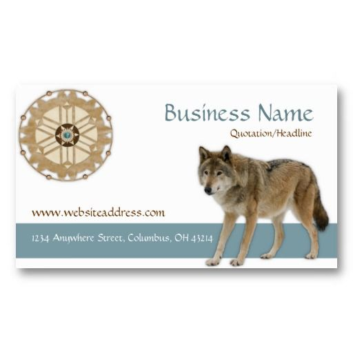 19 best native american business cards images on pinterest dreamcatcher wwolf native american business card colourmoves
