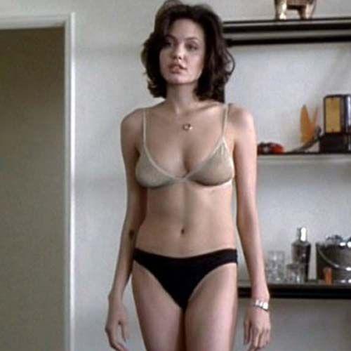 Young angelina jolie bikini unseen angelina jolie hot bikini