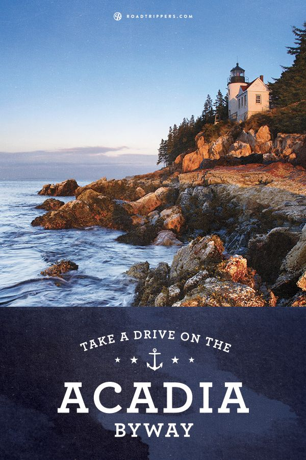 Acadia Byway in Maine complements the gorgeous costal landscape. Stop and explore Acadia National Park.