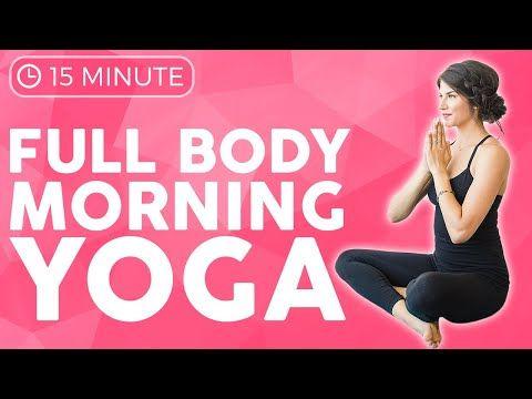 15 minute full body morning yoga 🙌🏽 power flow  sarah