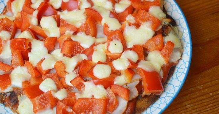 gezonde pizza met zoete aardappel