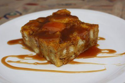 Pumpkin Bread Pudding with Toffee Sauce Bread: 5 cups cubed day-old bread, (crusts left on or removed) 1/2 cup golden raisins Custard: 2 large eggs plus 1 large egg yolk 3/4 cup canned pure pumpkin (no spices added) 1 1/2 cups half & half, milk, light cream or a combination thereof 3 T butter, melted  1/2 c light brown sugar 1/2 t vanilla 1/2 t cinnamon 1/4 t ginger 1/8 t cloves 1/4 t salt Toffee Sauce: 1/2 c dark brown sugar 4 T butter, cut into pieces 1/4 c heavy whipping cream 1/4 t…