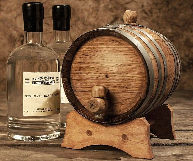 Partake in the joys of brewing your own hooch without getting raided by the coppers with the DIY whiskey kit. The kit included everything you need in order to begin making your own unique brand of aged whiskey, including a custom made mini wooden barrel.