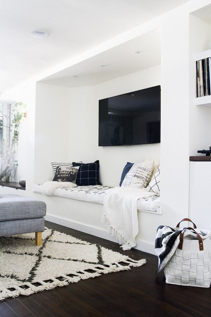 Built in TV Area with Bench Seat