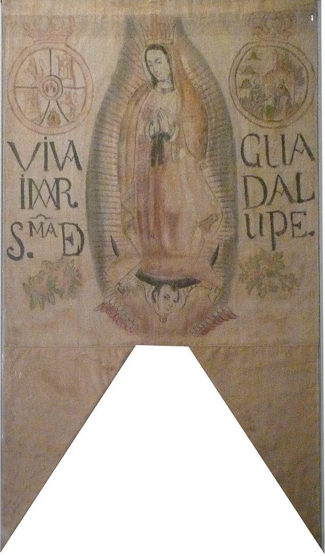 From Wikiwand: Llamado oficialmente Blasón de Hidalgo, pero oficialmente se reconoce que fue un estandarte más de las fuerzas insurgentes, no es el estandarte de Hidalgo.Museo Nacional de Historia