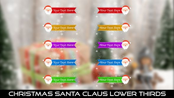 Christmas Santa Claus Lower Thirds  10 Lower Thirds | Full HD 1920×1080 | Quicktime PNG alpha codec | Each 10 seconds.  #videohive #motiongraphic #aftereffects #christmas #holiday #jinglebells #joy #lowerthird #newyear #party #red #santa #santaclaus #seasonal #snow #snowflakes #winter #xmas