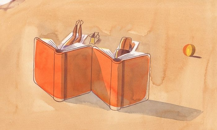 Books for the beach. Illustration: Toby Morison | The Guardian