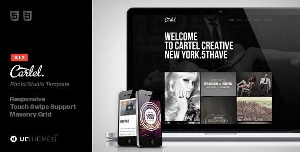Cartel HTML5 Responsive Studio Template - Creative Site Templates