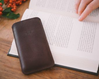Natural leather iPhone sleeve. best iphone cases by DHKgoods