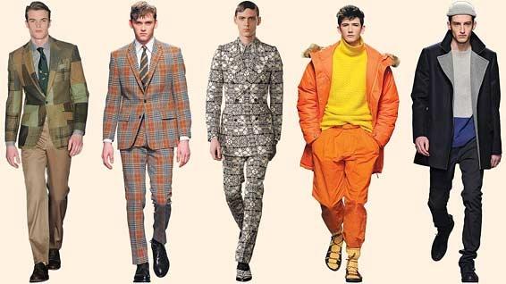 London's latest looks for men -  Autumn/winter 2013: from left: Richard James, E Tautz, Alexander McQueen, Topman Design, Richard Nicoll