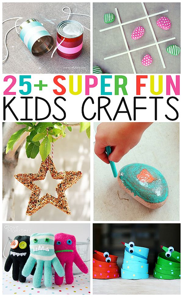 25+ Super fun kid's crafts - there's some really fun ones included here!