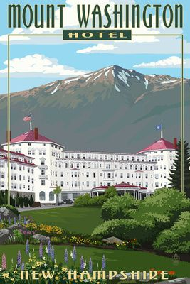 Mount Washington Hotel in Spring - Bretton Woods, New Hampshire - Lantern Press Poster