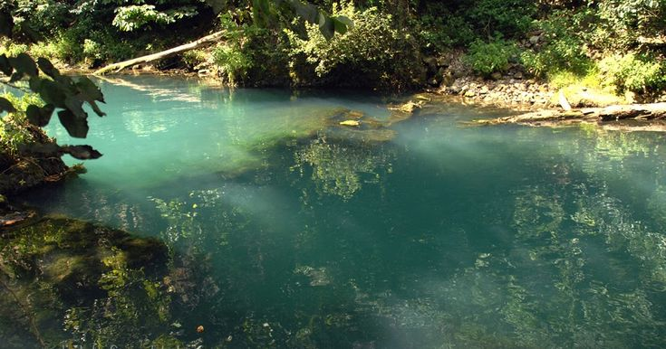 This was a picture that was taken in the Missouri Ozarks at Ha Ha Tonka State Park .  It's a natural spring and it had such beautiful wa...