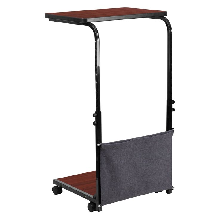 Flash Furniture Mobile Computer Cart with Removable Pouch - Mahogany - MT-6288-1-GG