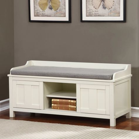 Linon Lakeville Indoor Storage Bench - The Linon Lakeville Indoor Storage Bench gives you an added spot for seating as well as functional storage. This sturdy indoor bench includes a comfortable...
