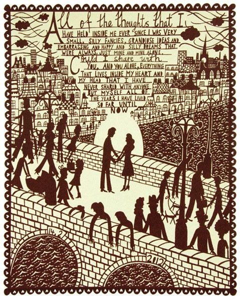 All of the Thoughts by Rob Ryan: Ideas, Rob Ryan, Robryan, Valentines Day, My Heart, Screens, Prints, Thoughts Screenprint, Products