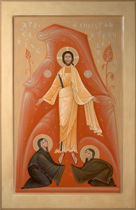Christ appearing to the Holy Myrrhbearers by Olga Shalamova