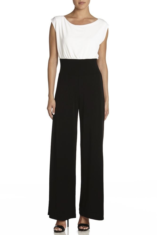 Bailey 44 Anthropologie Saks Codeword Black & White Jumpsuit $196 NWT #Bailey44 #Jumpsuit