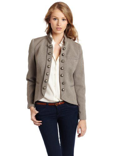 : Laid Back Style, Faded Tweed, Women Faded, Tweed Jackets, Jeans Style, Kensi Women, Military Style Jackets, Cute Jackets, Military Fashion