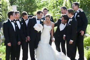 she can hang with the boys. #groomsmen #fashion