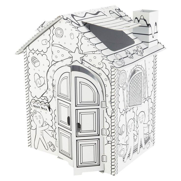 1000 id es sur le th me fus e de carton sur pinterest for Maison en carton a colorier